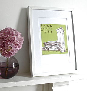 Park Royal Tube Silk Screen Print - posters & prints