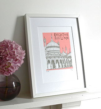 Brighton Pavilion Silk Screen Print