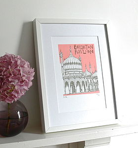 Brighton Pavilion Silk Screen Print - posters & prints