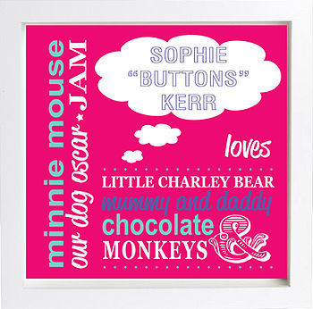 Personalised 'Little One Loves' Print