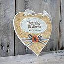 Personalised Cottage Style Wedding Heart