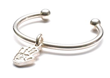 Little Hand/Footprint Baby Torque Bangle