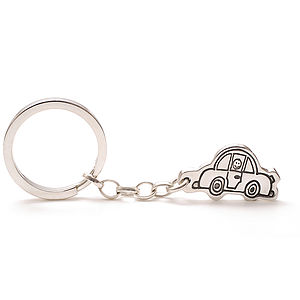 Personalised Keyring   Drawn By Your Child - keyrings