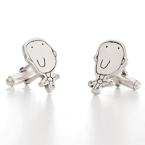 Personalised Cufflinks - Drawn By Your Child! - cufflinks