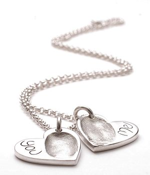Personalised Fingerprint Heart Pendant