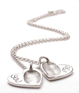 Personalised Fingerprint Heart Pendant - women's jewellery