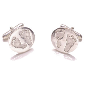 Personalised Hand And Footprint Cufflinks - men's accessories