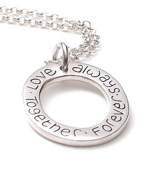 Hand Inscribed Cluster Ring Necklace
