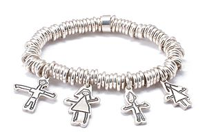 Personalised Sweetie Bracelet - Drawn By Your Child! - charm jewellery