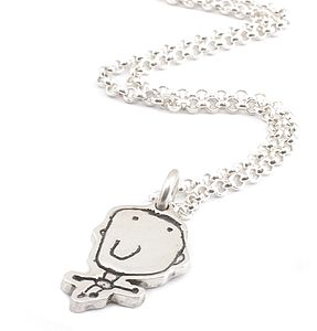 Personalised Charm on a Chain - Drawn By Your Child - necklaces & pendants