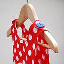 Girl's Gnome Print Reversible Dress