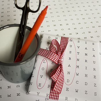 Personalised Word Search Wrapping Paper