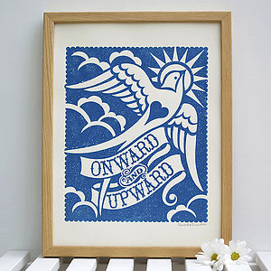'Onward And Upward' Print - posters & prints
