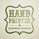 Hand Printed Stamp