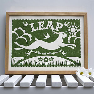 Leaping Rabbit Print
