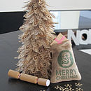 Personalised Initial Mini Christmas Sack