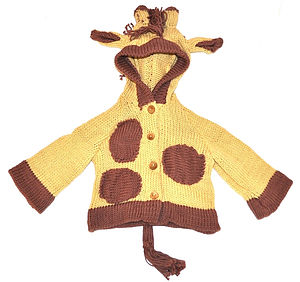 Organic Cotton Giraffe Cardigan - for under 5's