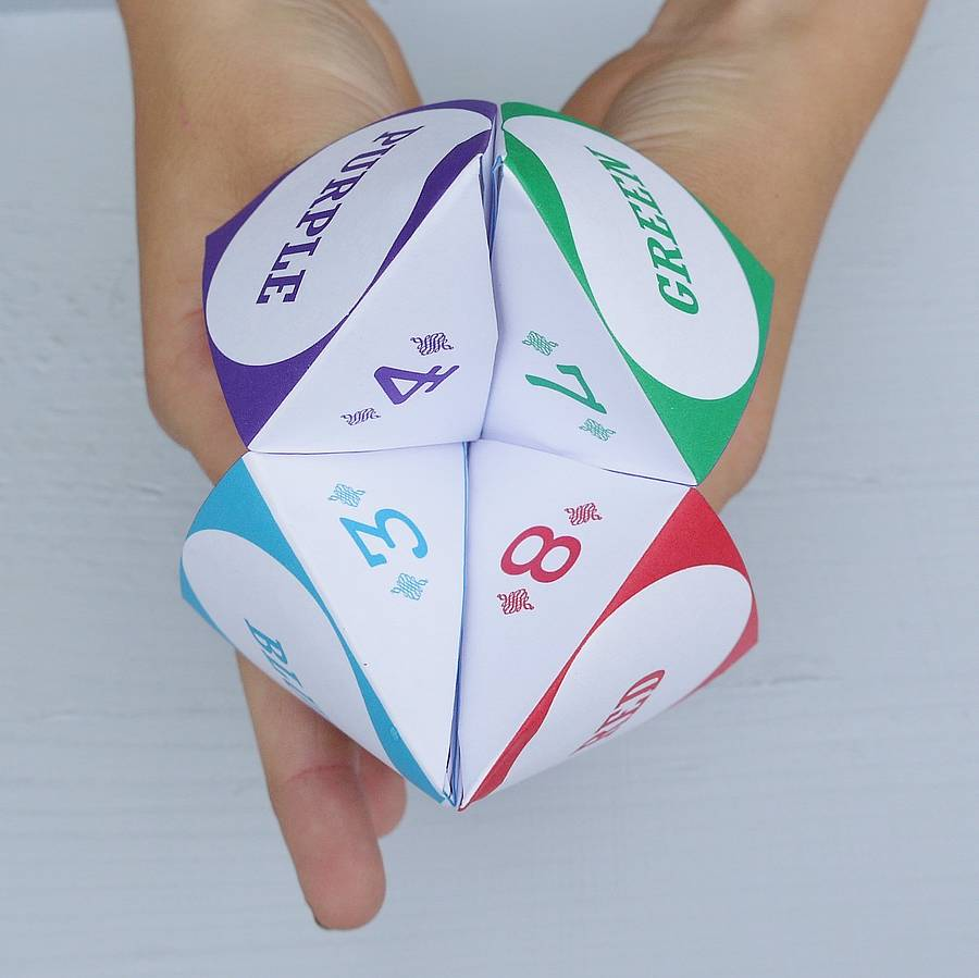 personalised paper fortune teller by daisyley designs. Black Bedroom Furniture Sets. Home Design Ideas