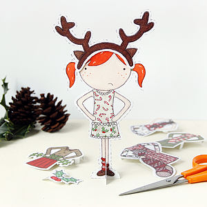 Clara Paper Doll Christmas Outfits - view all sale items