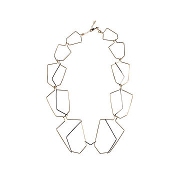 Geo Art Deco Style Necklace
