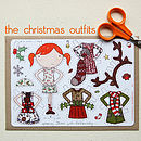 Clara Paper Doll Christmas Outfits