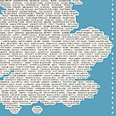 'Great Place Names' Tea Towel