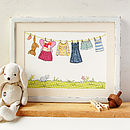 Standard Little Girl's Washing Line Print