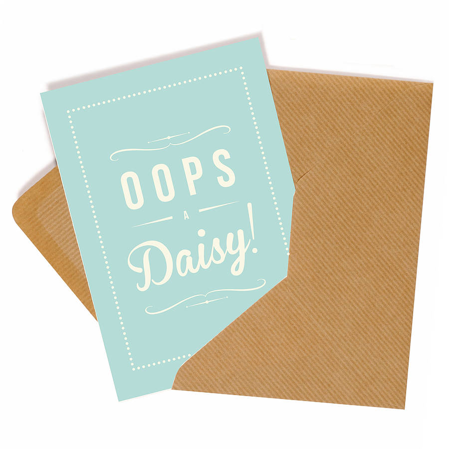 'Oops A Daisy' Retro Style Greeting Card