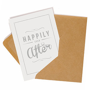 'Happily Ever After' Retro Style Card