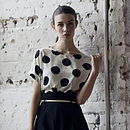 Monochrome Spotted T Shirt