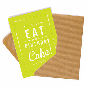 'Birthday Cake' Retro Style Card