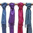 Ethical Handwoven Cotton On Scarf