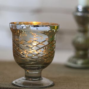 Mercury Silver Footed Votive Or Vase - lighting