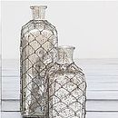 Mercury Silver Glass Bottle