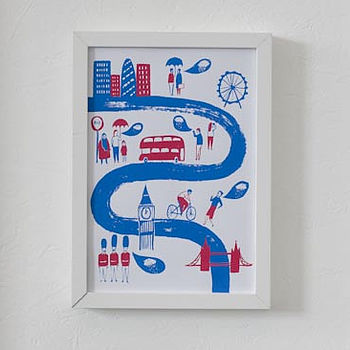 Talk About The Weather London Screen Print