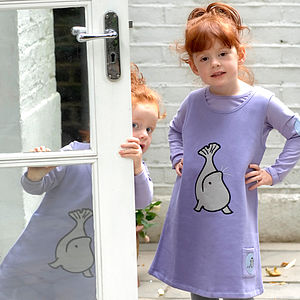 Girl's Toasty Dress With Sundance The Seal