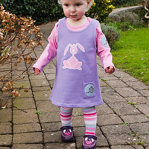 Organic Toasty Dress With Bess The Bunny - dresses