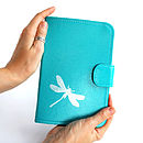 Printed Leather Dragonfly Kindle Cover