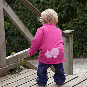 Baby's Toasty Top With Piggy - jumpers & cardigans