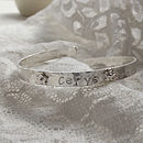 Personalised Silver Christening Bracelet: flower shapes