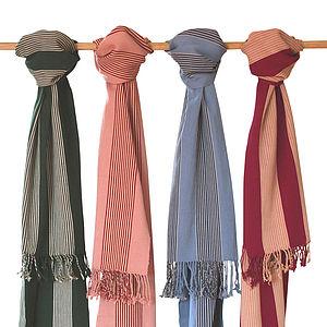 Handwoven Cotton Striped Paz Scarf