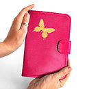 Printed Leather Butterfly Kindle Cover