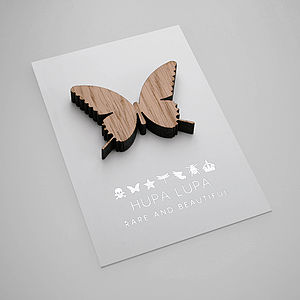 Oak Butterfly Magnetic Decoration - ornaments