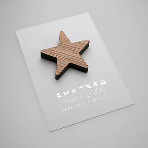 Oak Star Magnetic Decoration - magnets