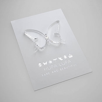 Clear Acrylic Butterfly Magnetic Icon Decoration