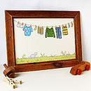 Standard Little Boy's Washing Line Print