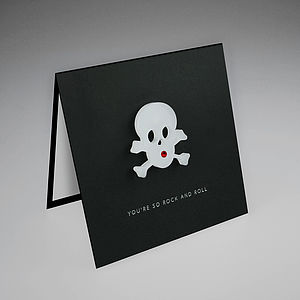 Magnetic Skull Gift Card - kitchen accessories
