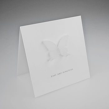 White Acrylic Butterfly Magnetic Icon Gift Card