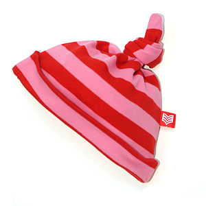Candy/Red Striped Baby Hat - babies' hats