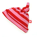 Candy/Red Striped Baby Hat